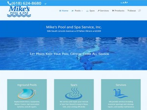 Mikes Pool and Spa Web Site