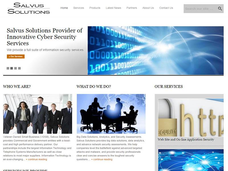 Salvus Solutions Web Site Image